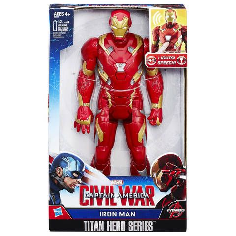 Marvel Avengers Titan Hero Tech Captain America Electronic Sound Figures Kid Toy