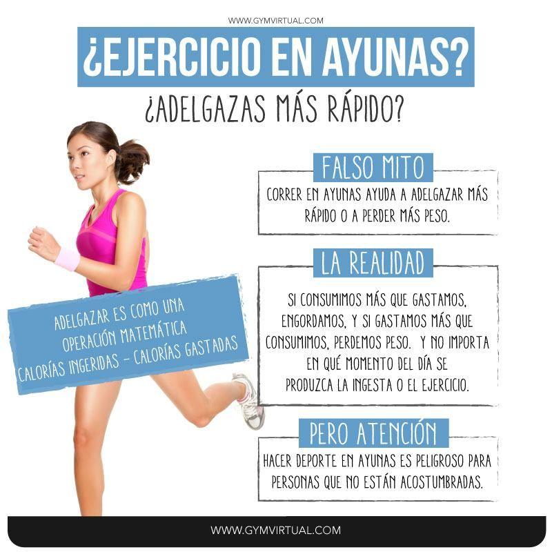 Hacer ejercicio en ayunas ayuda a adelgazar