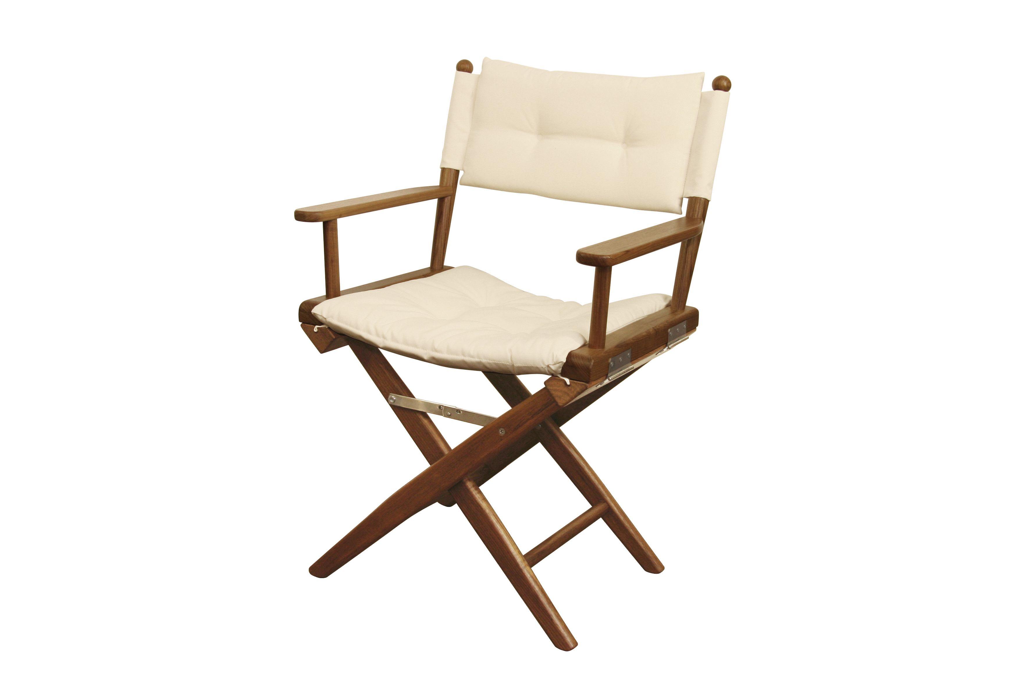 Teak Directors Chair Ed With Batyline Canvas Seat