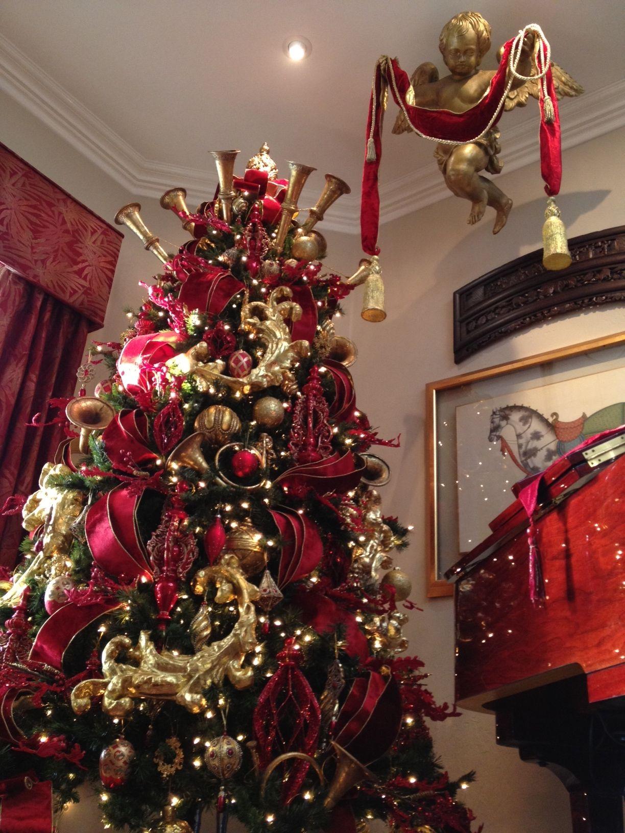 Cherub Christmas tree topper  Exquisite professional Christmas decor by Nicholas Christmas