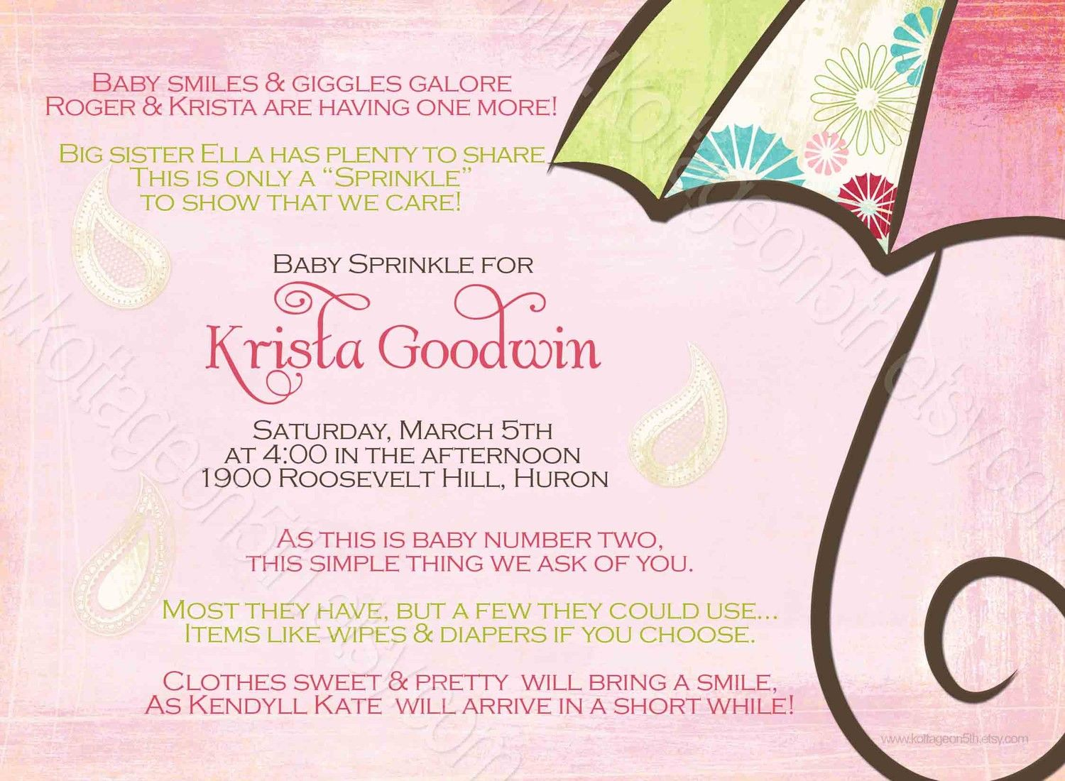 Baby Shower For Second Baby Shower Invitation For 2nd Or 3rd