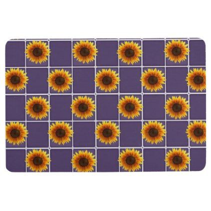 floor mat sunflowers | zazzle | sunflower bathroom