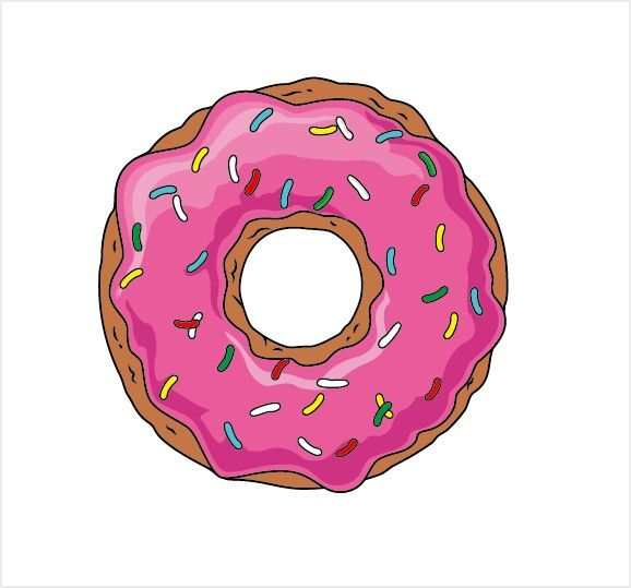 Dona Simpsons Dibujos De Los Simpson Donas Dibujos Logotipo De Helado