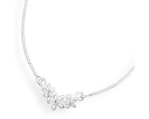 "16"" Necklace with Cut Out Flower Design"