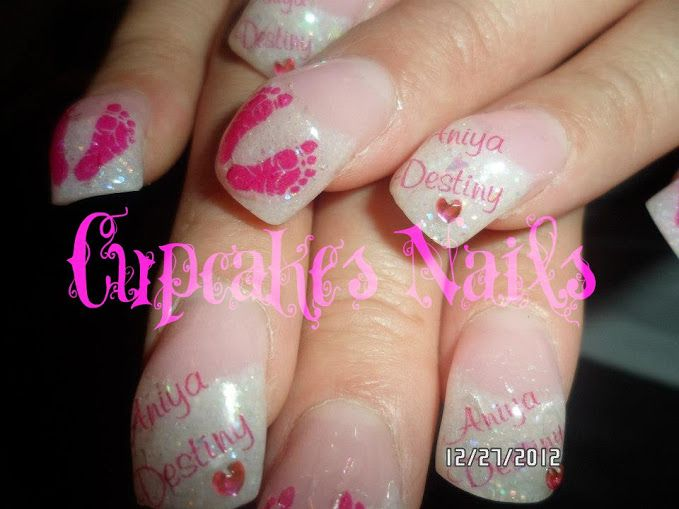 baby shower nails nail decals