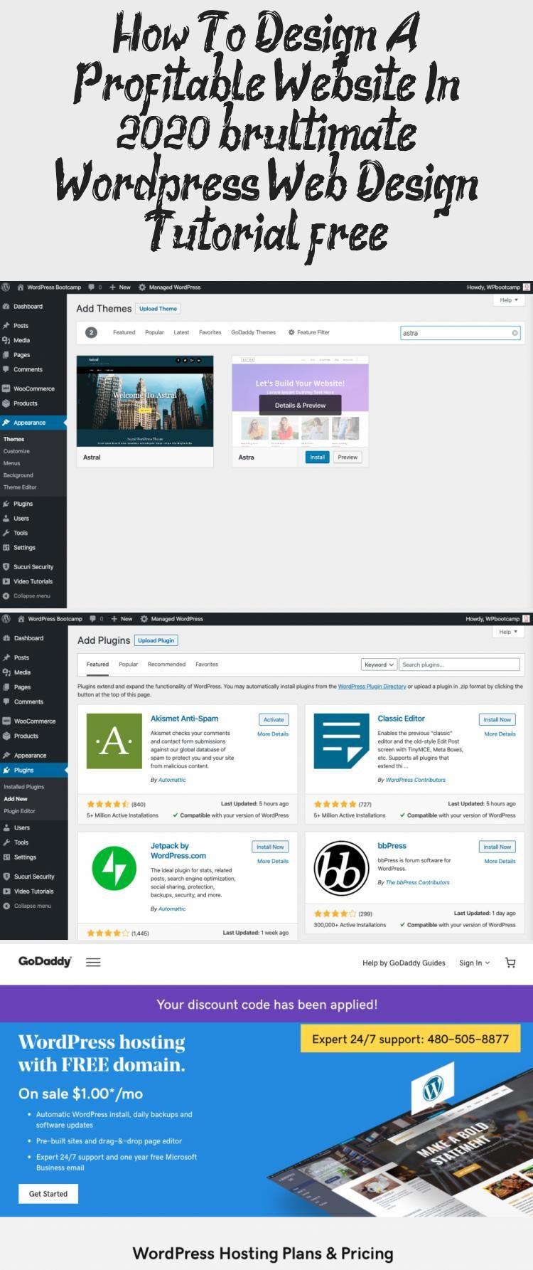 How To Design A Wordpress Website In 2020 Step By Step Tutorial Web Design Tutorials Mentor Program Create Website
