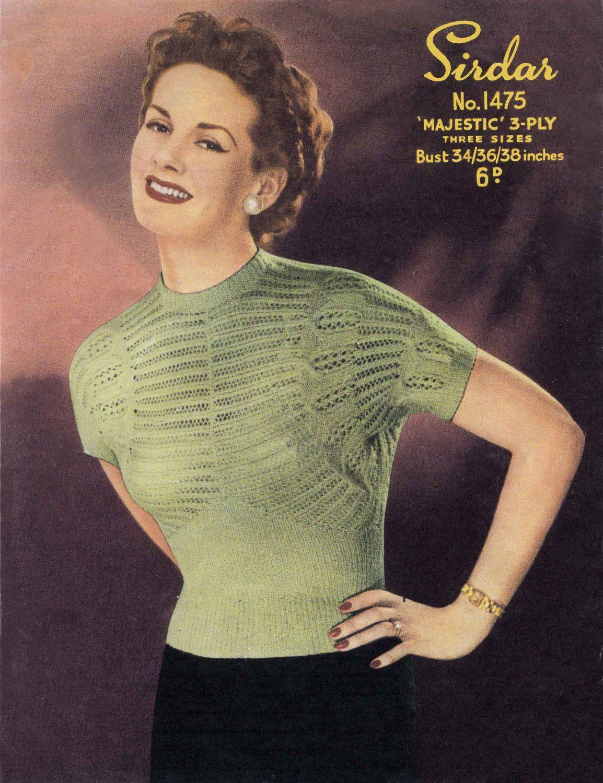1960\u2019s Knitting Pattern PDF Download Women\u2019s 60\u2019s Knitted Caftan Pattern Retro Pullover Vintage Ladies Knitting E Pattern