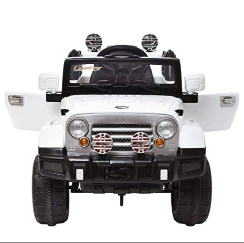 Tobbi Kids Ride On Jeep Style Truck 12v Battery Powered Electric Car W Remote Control White Power Wheels Jeep Kids Ride On Ride On Toys