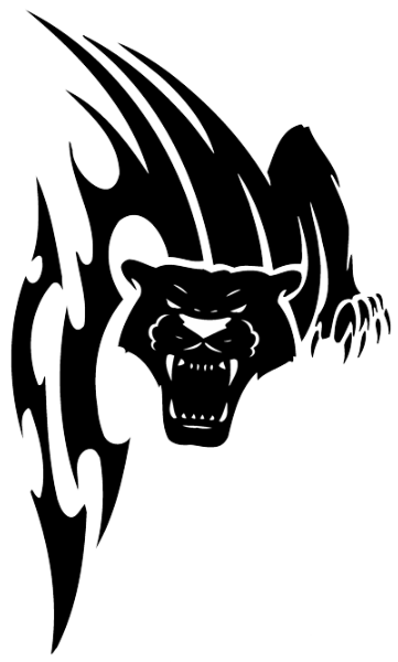 vicious tribal panther sreaming design football
