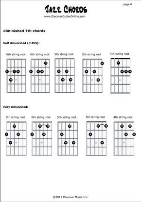 Jazz Chords pg6 | Discover Guitar Online, Learn to Play Guitar ...
