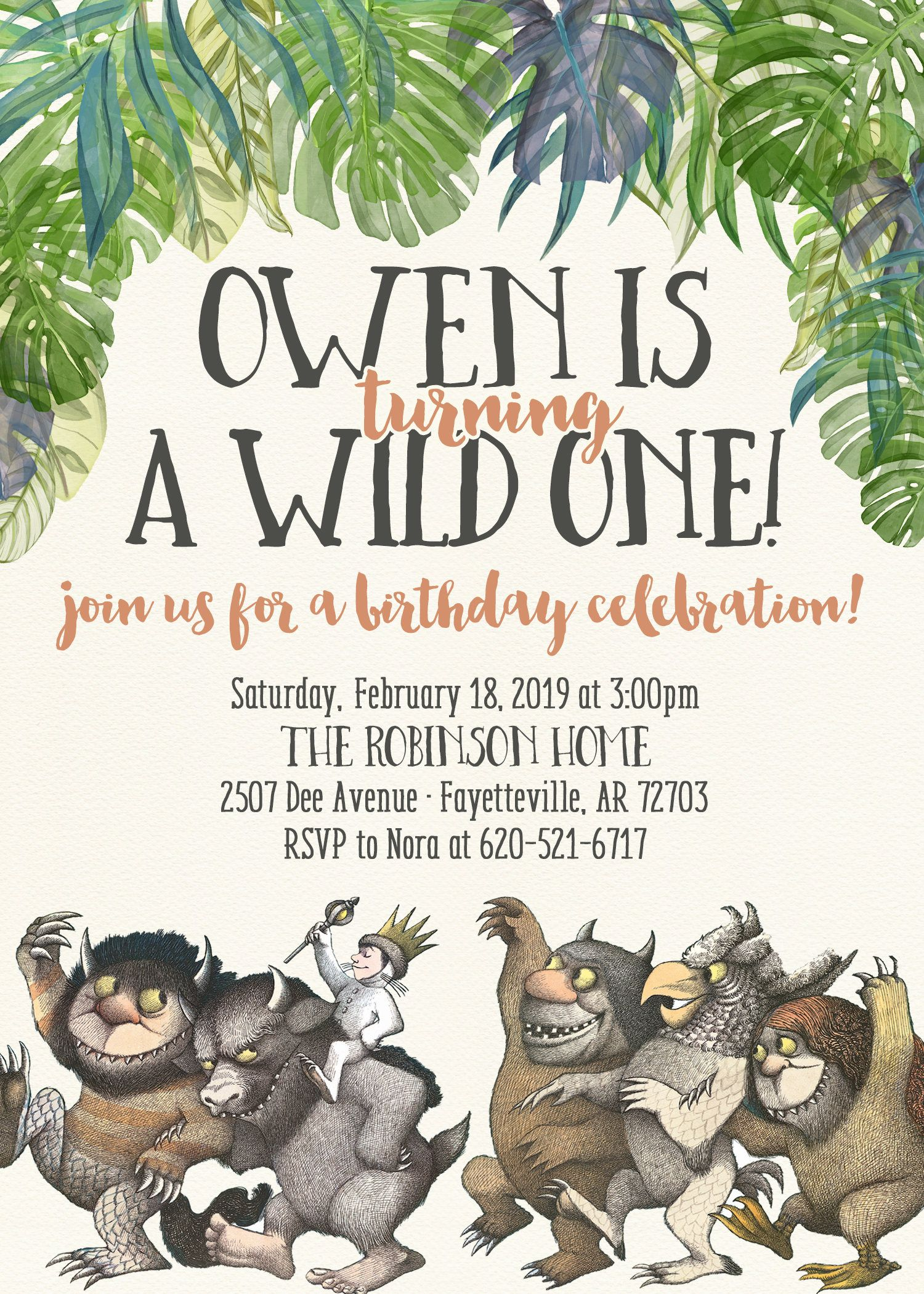 Wild One Birthday Printable Invitation or Printed Invitation- Wild ...