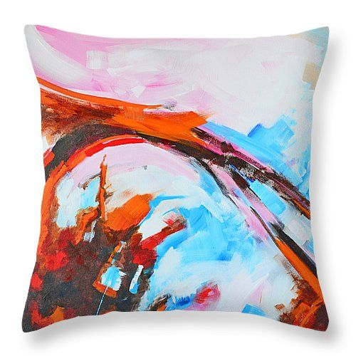 """Serendipity No. 2 Abstract Painting Throw Pillow 14"""" x 14""""  #throwpillow #homedecor"""