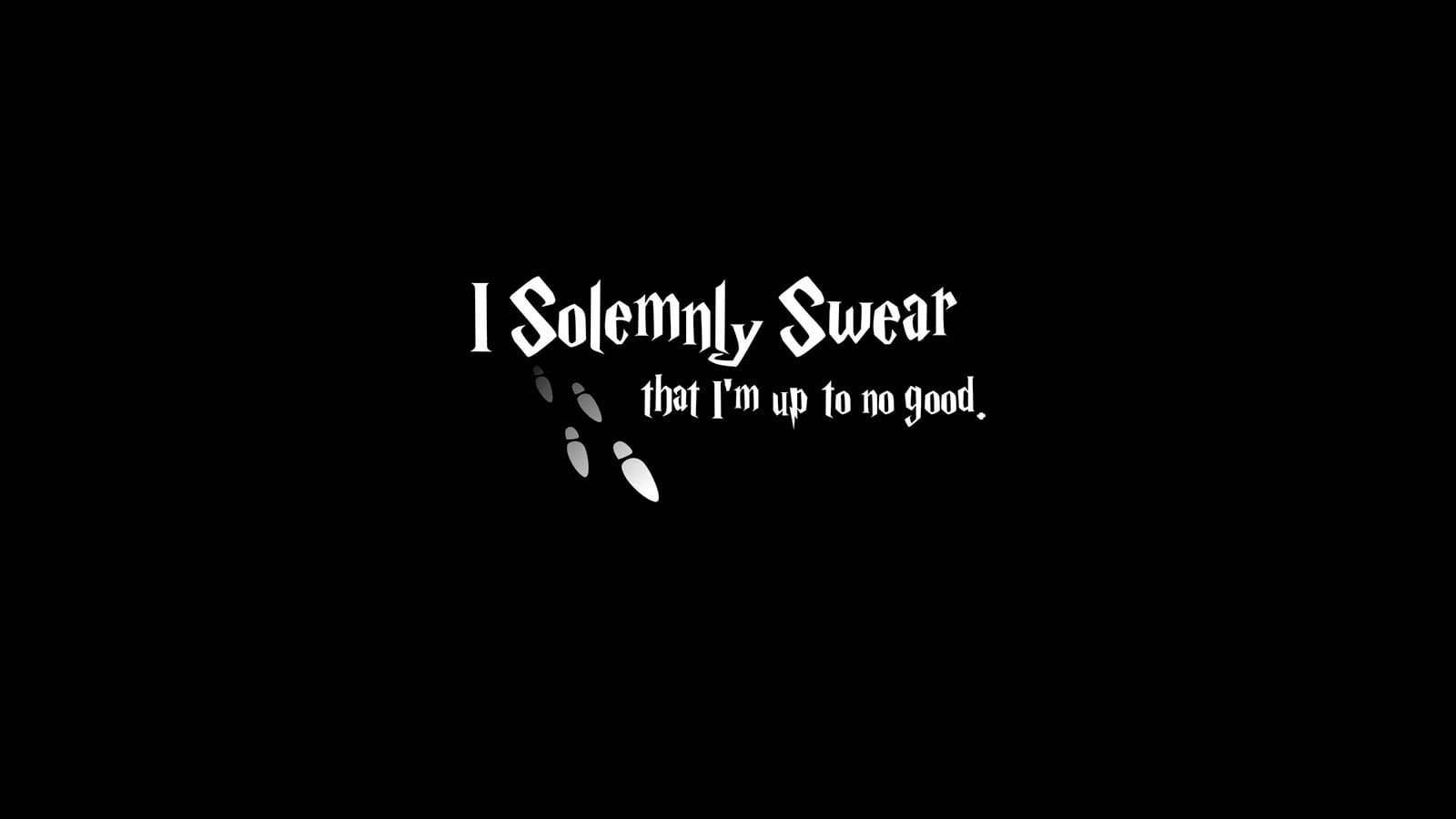 Black Background With Solemnly Swear Text Overlay Harry Potter 720p Wallpaper Hdwal Harry Potter Wallpaper Desktop Wallpaper Harry Potter Simple Backgrounds