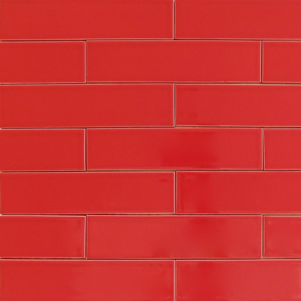 Kiln ceramic subway tile siren red modwalls designer tile red modwalls usa made ceramic subway tile in red color siren dailygadgetfo Images