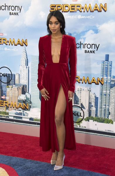 10f15feba05 Actress Laura Harrier attends the world premiere of