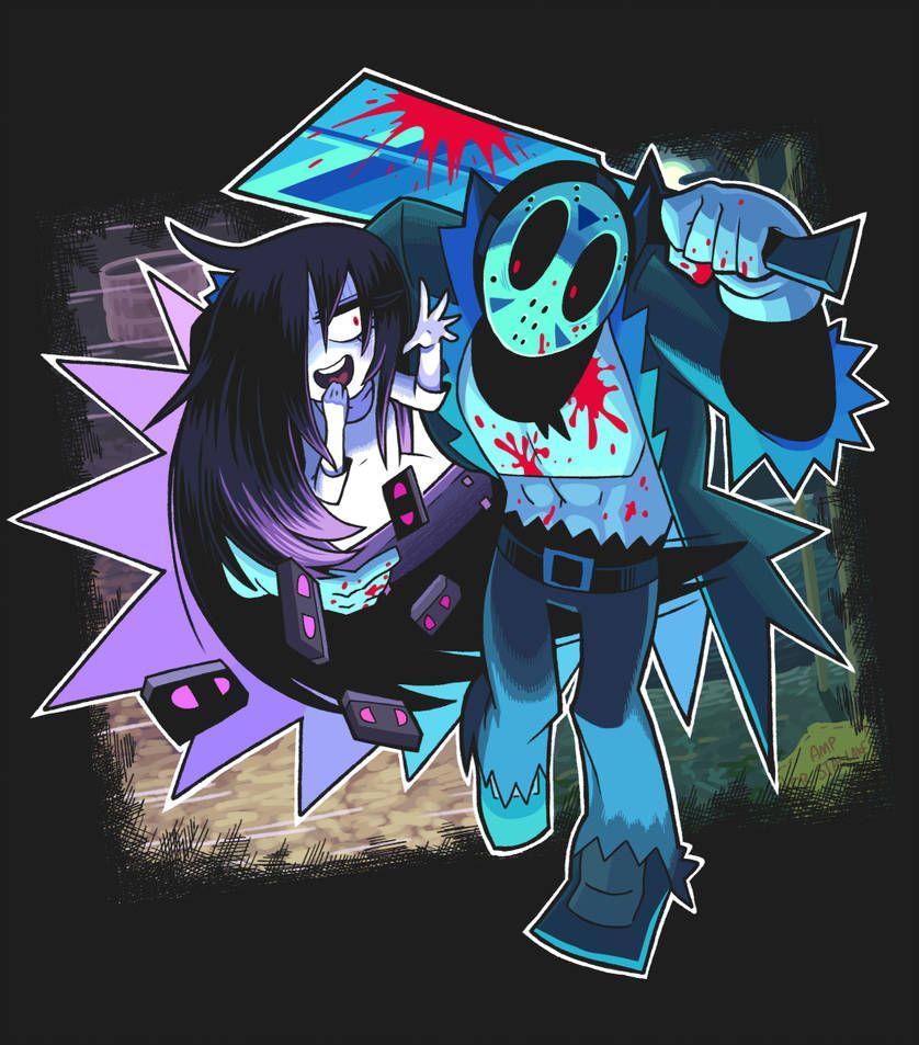 Jason and Sadako by Gashigashi Art, Black anime