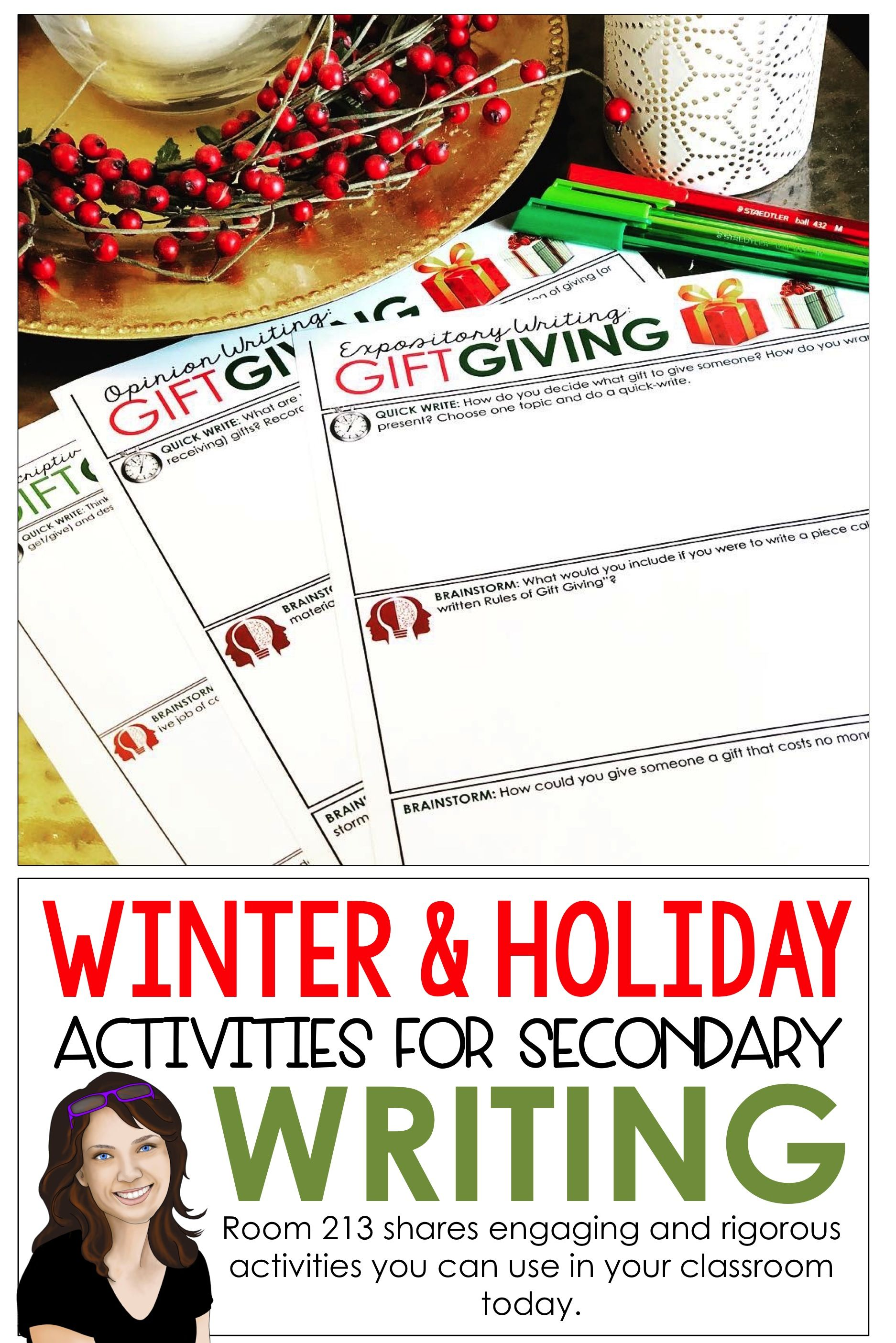 Short Writing Activities For The Christmas Amp Winter Season