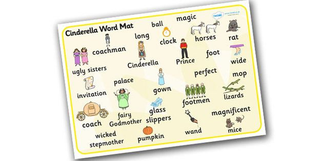 Cinderella word mat cinderella pinterest cursive cinderella word mat stopboris Image collections