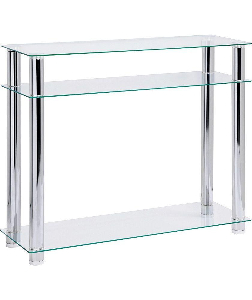 Argos Black Glass Console Table