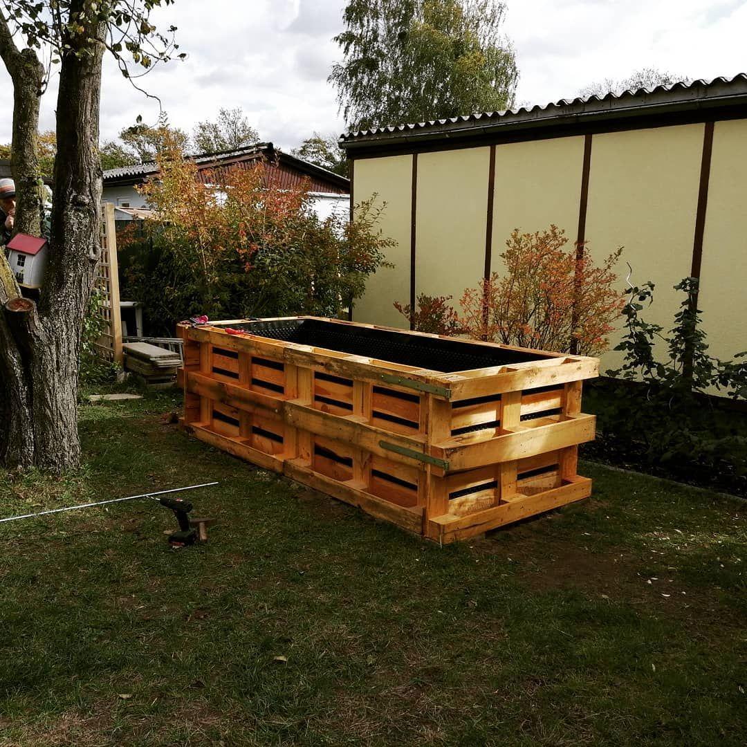 Hochbeetbau Teil 2 Vielen Dank Fur Eure Guten Hinweise Zu Meinem Ersten Hochbeet Post Ein Paar Davon Haben Wir Direkt Umgesetzt Wir Haben Nun Heute Die M