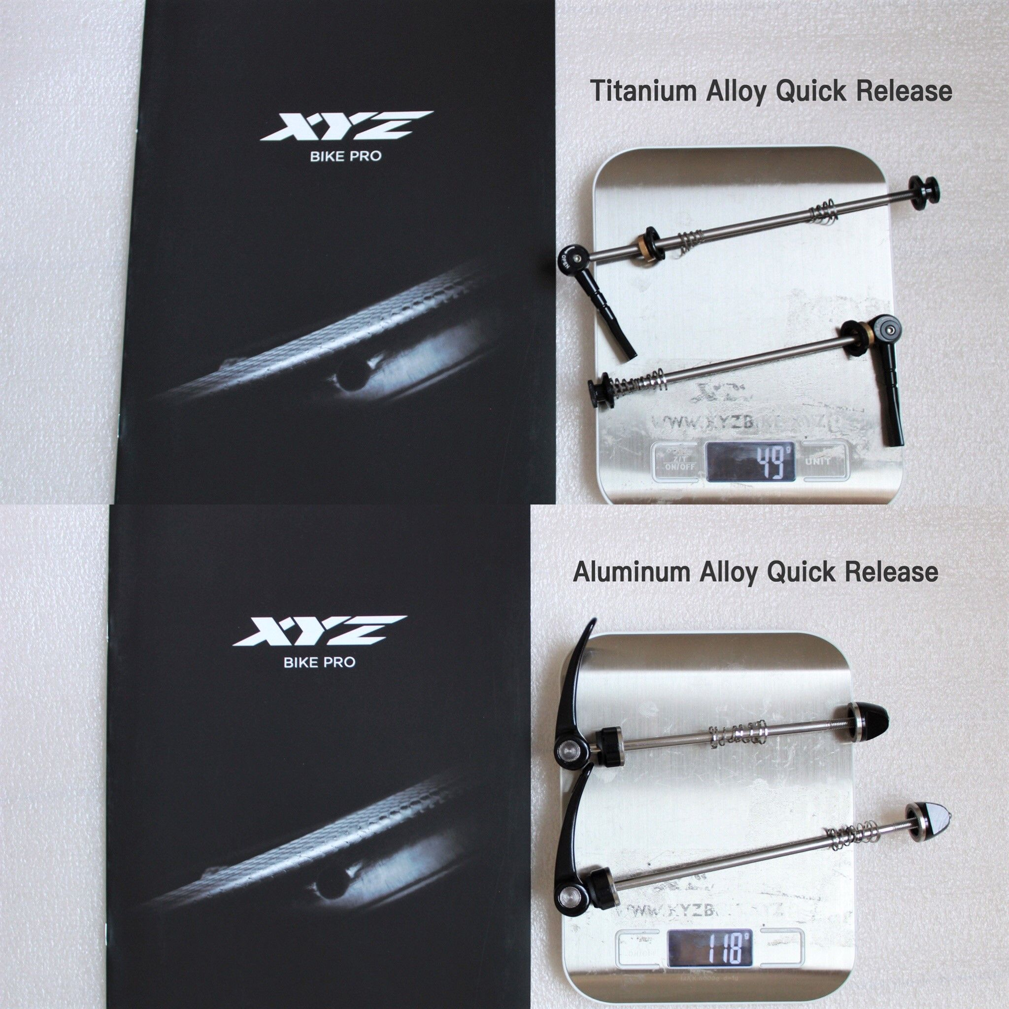 Our Specially Customized Titanium Alloy Quick Release Vs Aluminum