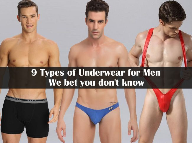 9 Types of Underwear for Men We bet you don't know | Different ...