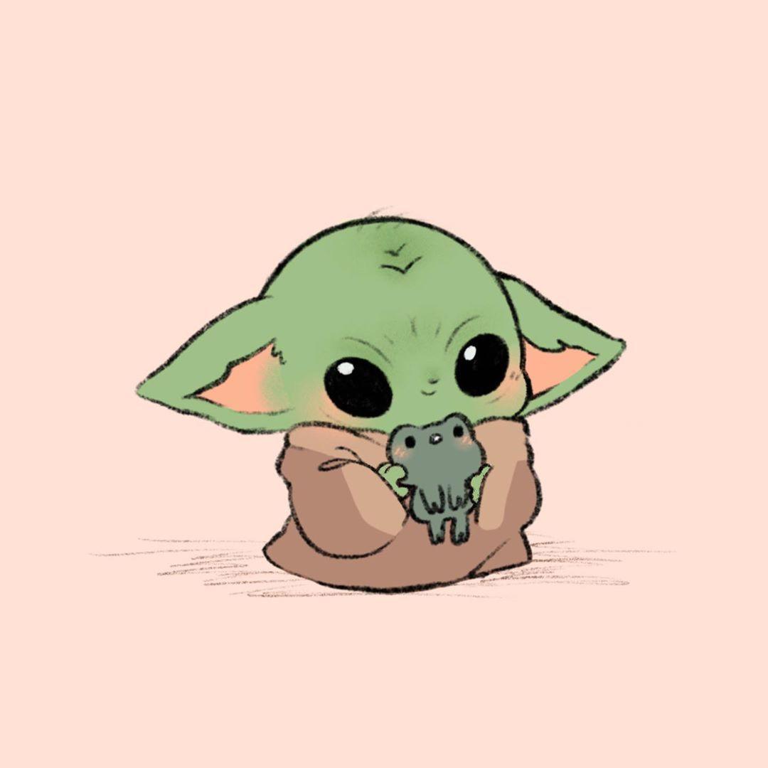 T On Instagram Froggie Is Yummy I Have Spoken I Can T Stop I Love Babyyoda So Much Themanda Yoda Drawing Cute Disney Drawings Yoda Wallpaper