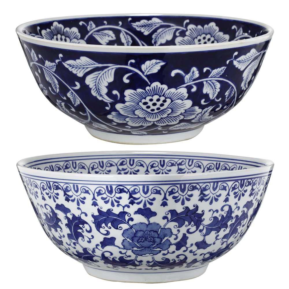 Blue And White Decorative Bowls 2 Pack Whites