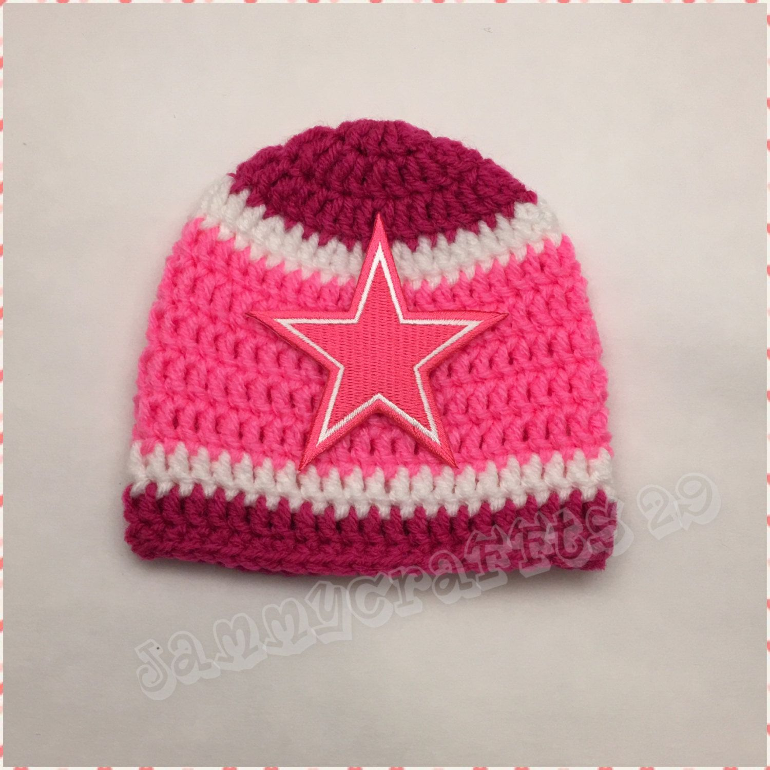 532363ddb Crochet Baby Girl Football Hat/Football Beanie/Baby Girls/Pink Style/Dallas  Cowboys/Houston Texans/Seattle Seahawks/Choose Your Team by JAMMYCRAFFTS29  on ...