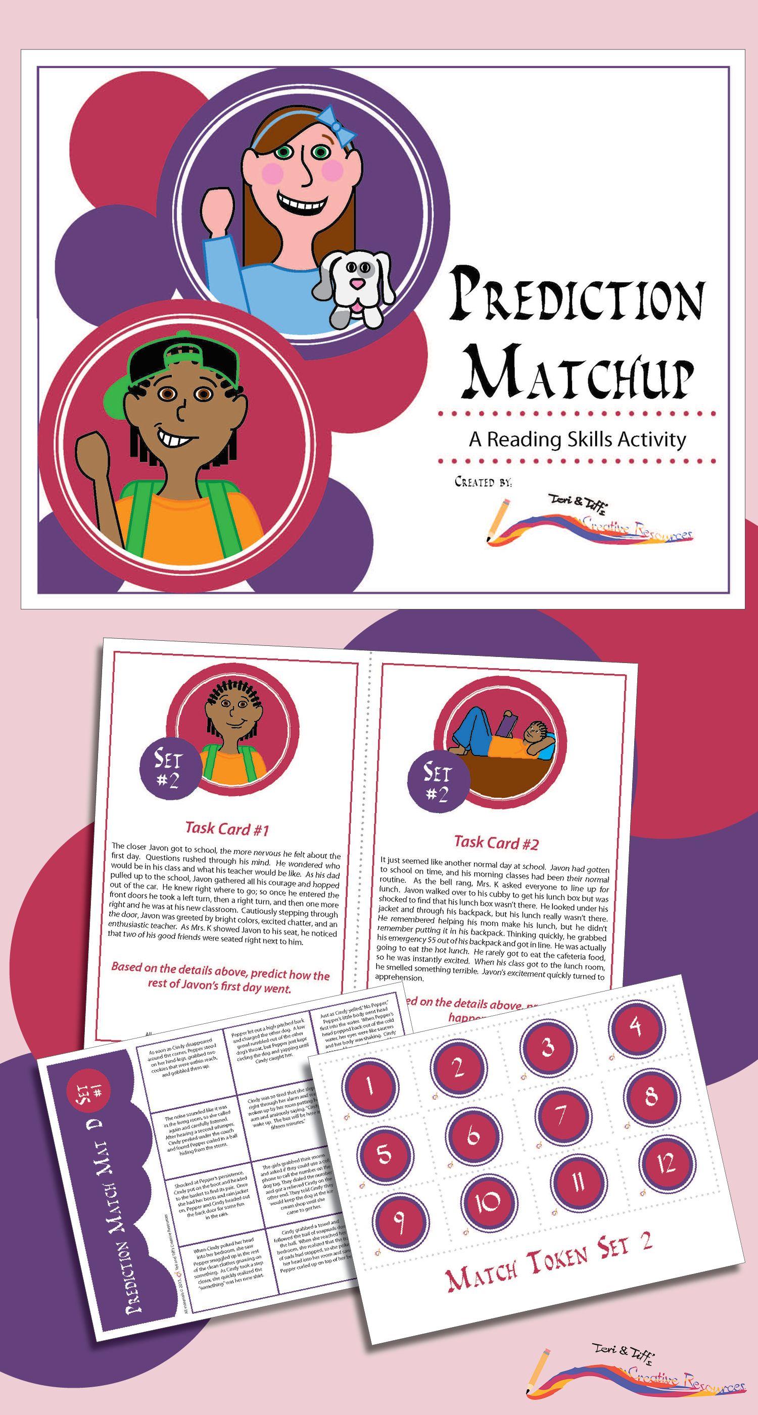 Prediction Matchup A Focused Reading Skills Activity