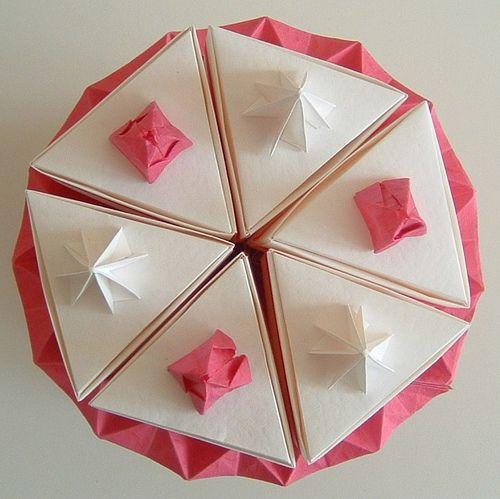 Origami Birthday Cake By Emtysoe Via Flickr Origami Pinterest