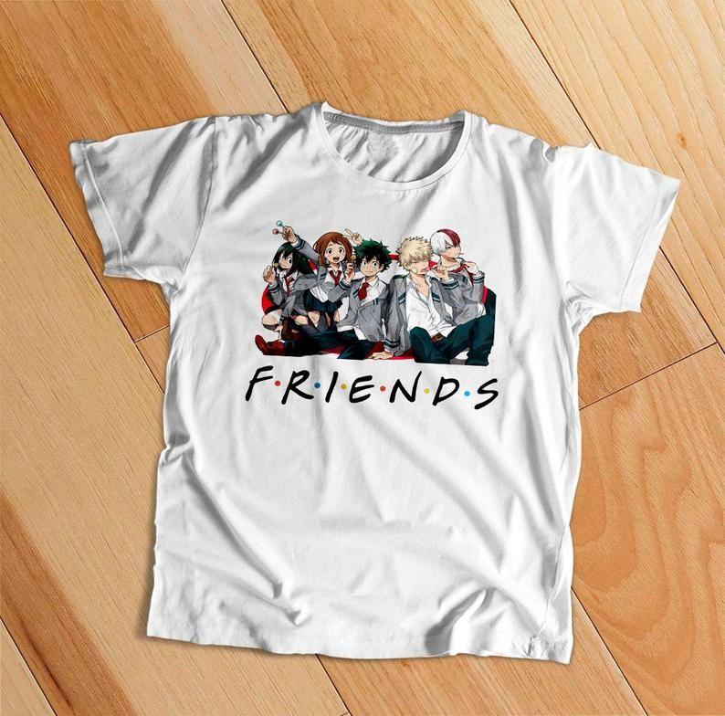 My Hero Academia Friends Shirt My Hero Academia Shirt Anime Etsy My Hero Academia Shirt Friends Shirt Shirts