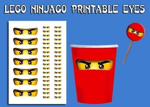 lego ninjago eyes birthday party favors