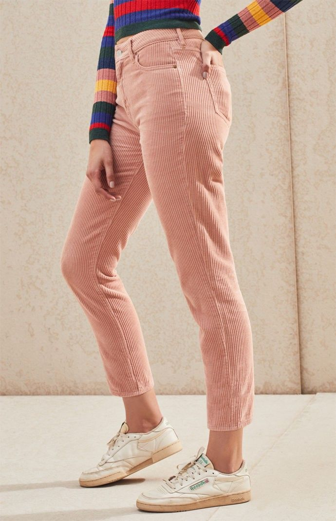 e633638ce4a PacSun Hibiscus Corduroy Mom Jeans by PacSun in 2019 | Products ...