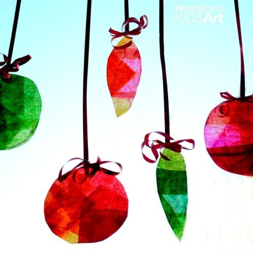 Christmas Suncatcher Art Projects For Kids Christmas Crafts For