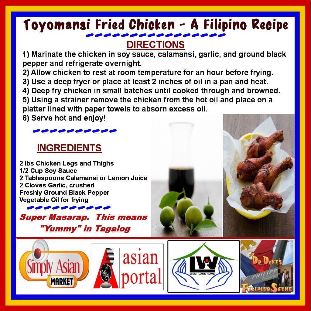 Toyomansi Fried Chicken A Filipino Recipe Toyomansi
