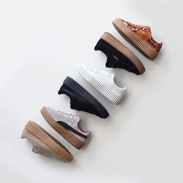 💎 Puma Fenty family by @theliveitup ・・・ #puma #pumacreepers #pumafenty #fentyxpuma #fenty #pumabyrihanna #girlsonmyfeet #gomf #girlonkicks #wdywt #womf #sneakersmag #sneakers #snkrs #sneakersaddict #sadp #sneakersoftheday #chicksonkicks #girlsonkicks #igsneakers #sneakerhead #snkrhds #highsnobiety #klekttakeover