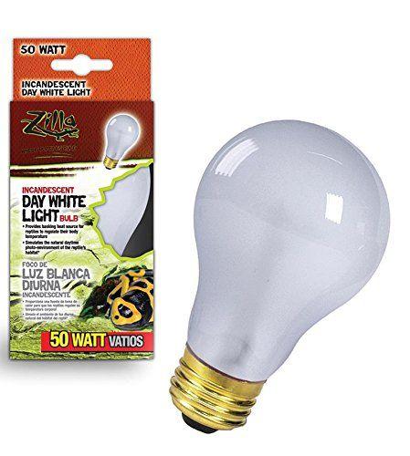 Zilla Reptile Terrarium Heat Lamps Incandescent Bulb Day White Light White Light Bulbs Incandescent Bulbs