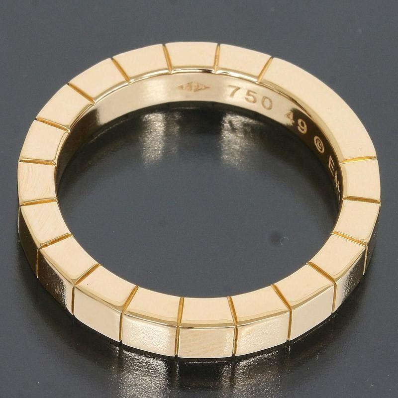 Cartier 18k Pink/Rose Gold Lanieres Wedding Band Ring Us Size 4.5