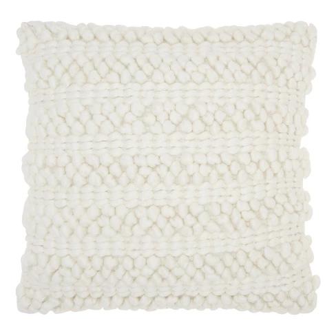 Mina Victory Woven Stripes Throw Pillow Stripe Throw Pillow Throw Pillows Solid Throw Pillows