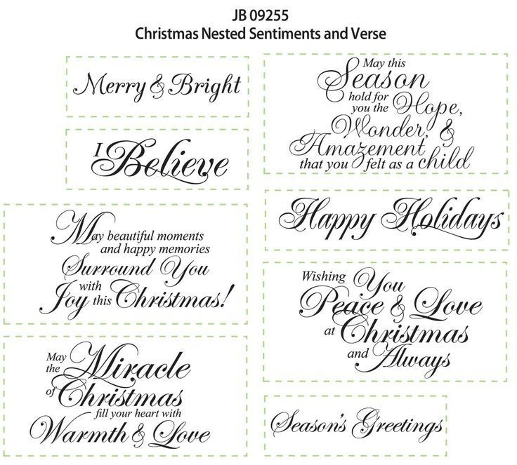 Christmas Sentiments For Card Making Special Day With