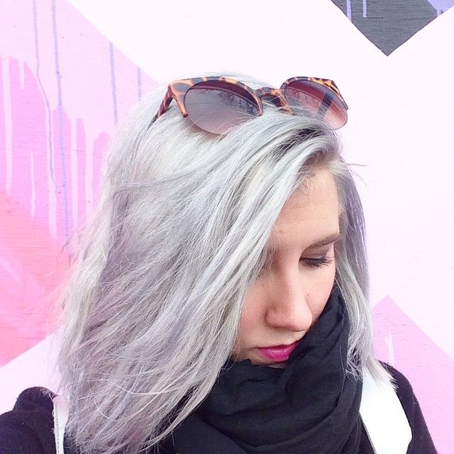 Alyssa Garrison - randomactsofpastel -  Oh hi I'm  #greyhairdontcare #silverhair #greyhair #pastel