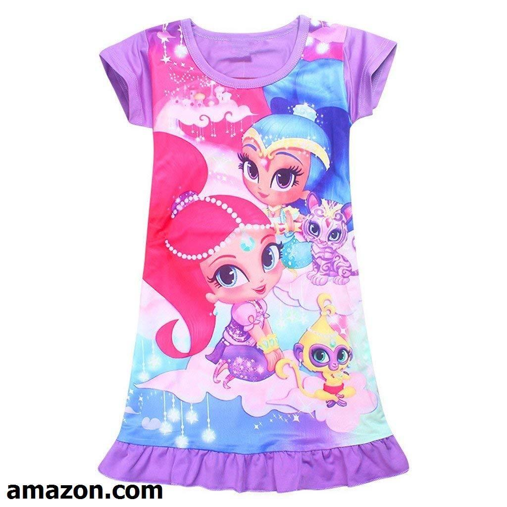 Tsyllyp Kids Girls Dress Halloween Costume Popular Party Cosplay Nightgowns Sleepwear