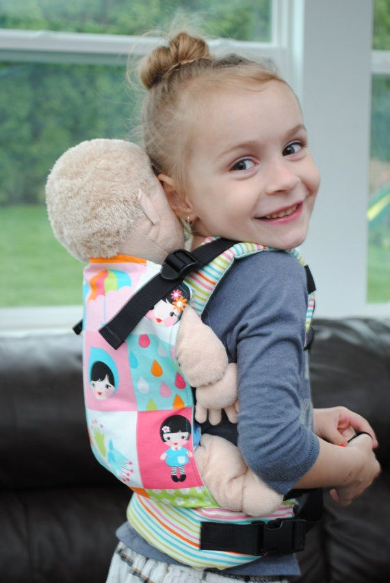 The cutest doll carrier pattern! Super simple to make by Sew Toot ...