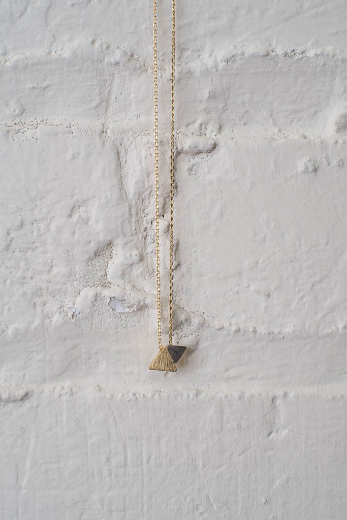 2-Tone Triangle Necklace