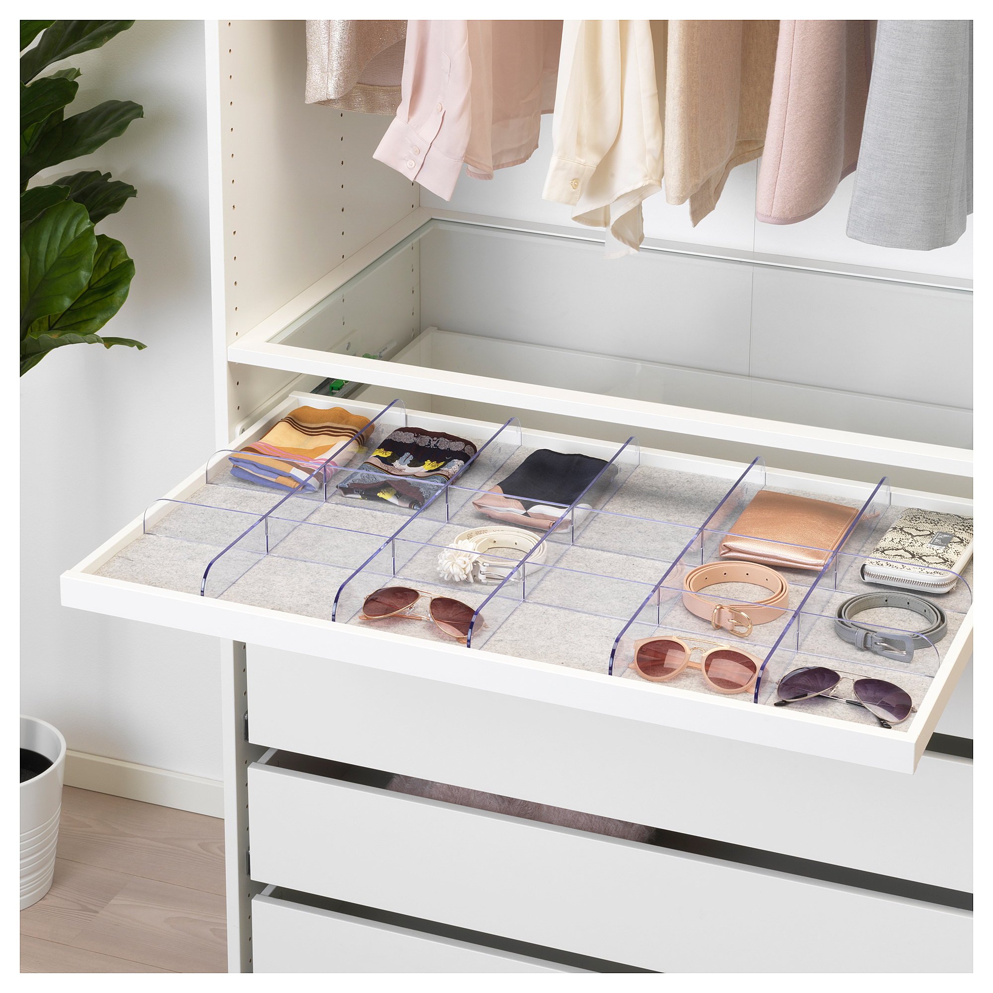 IKEA  KOMPLEMENT Pullout tray with divider white
