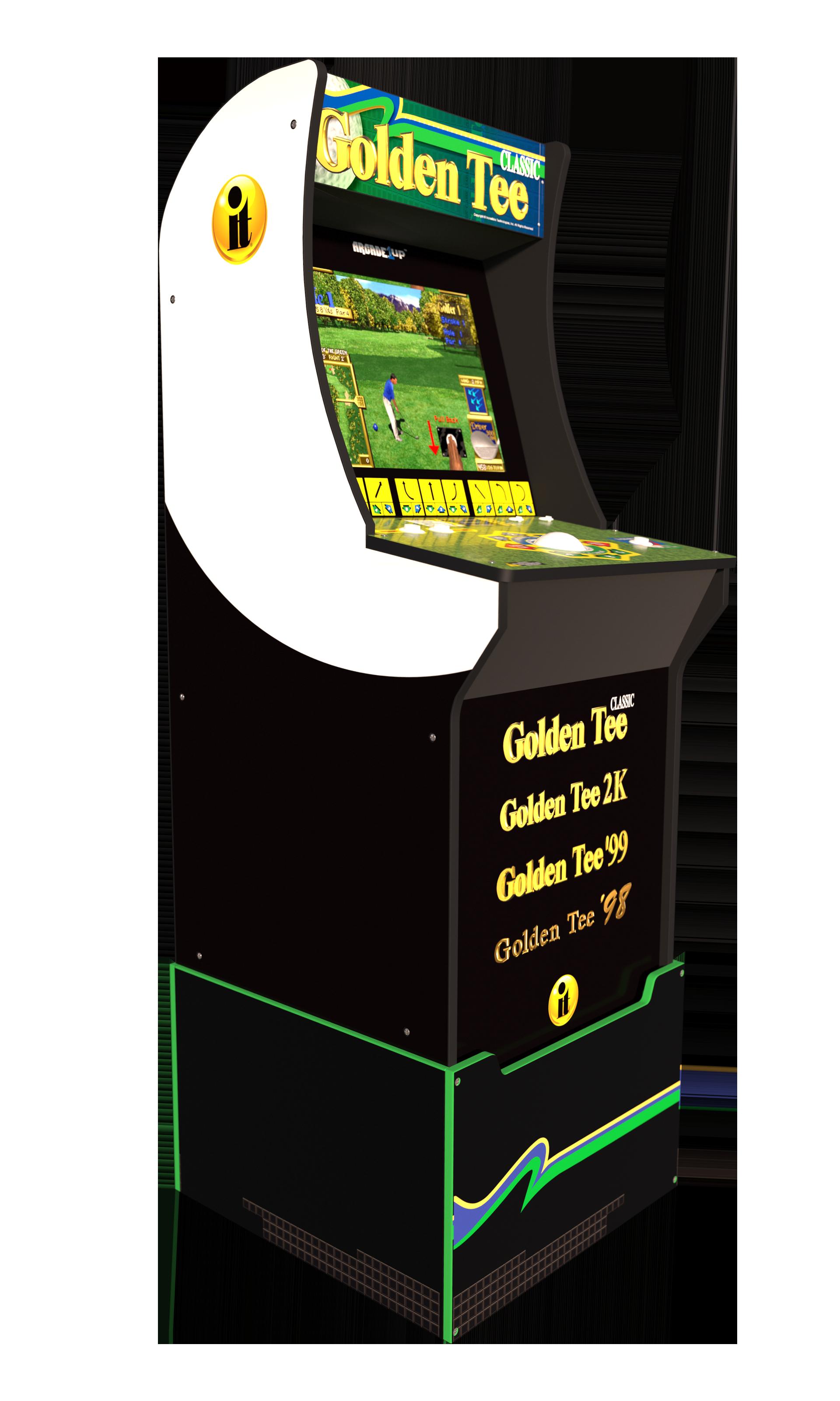 Golden Tee Arcade Machine With Riser 4ft Arcade1up Walmart Com Arcade Arcade Machine Arcade Games