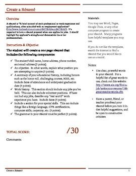 Resume Assignment Rubrics 100 Words And Word Search