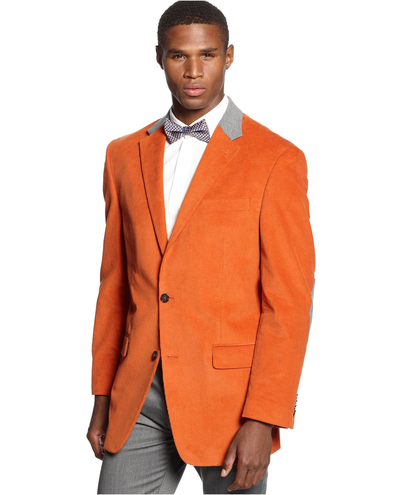 Sean John Jacket, Solid Corduroy With Elbow Patches