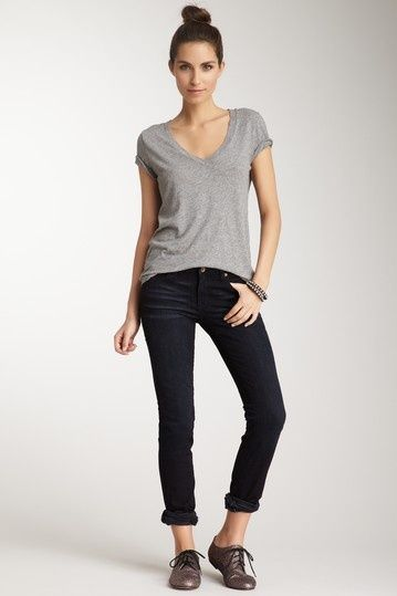 7 Ways to Style: T-Shirt and Straight Leg Jeans | T shirts, Style ...